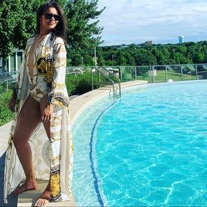Other - Versace inspired bathing suit and kimono
